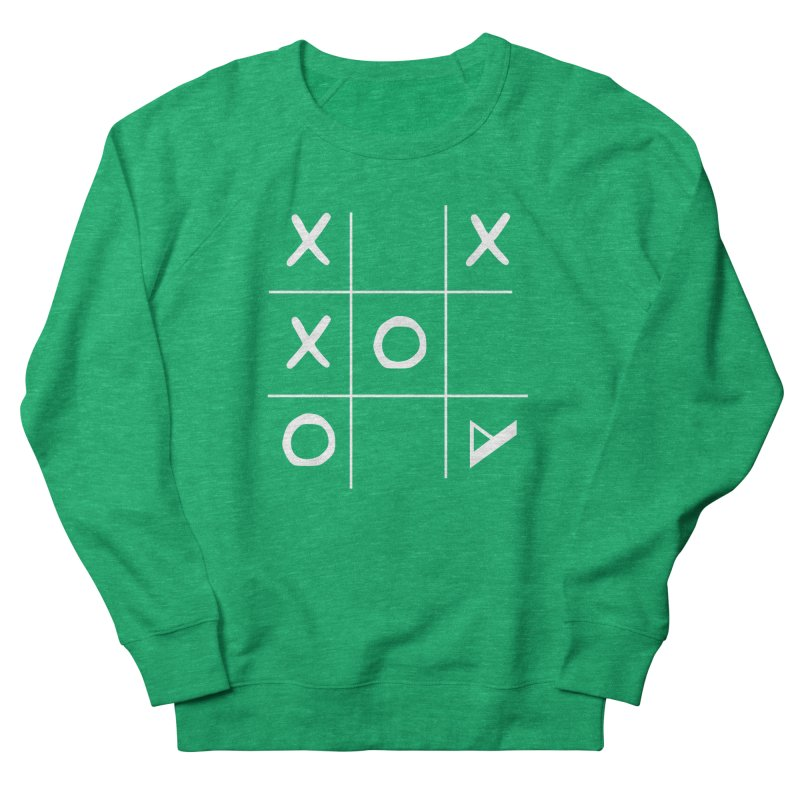 Tic Tac Toe Women's French Terry Sweatshirt by Var x Apparel