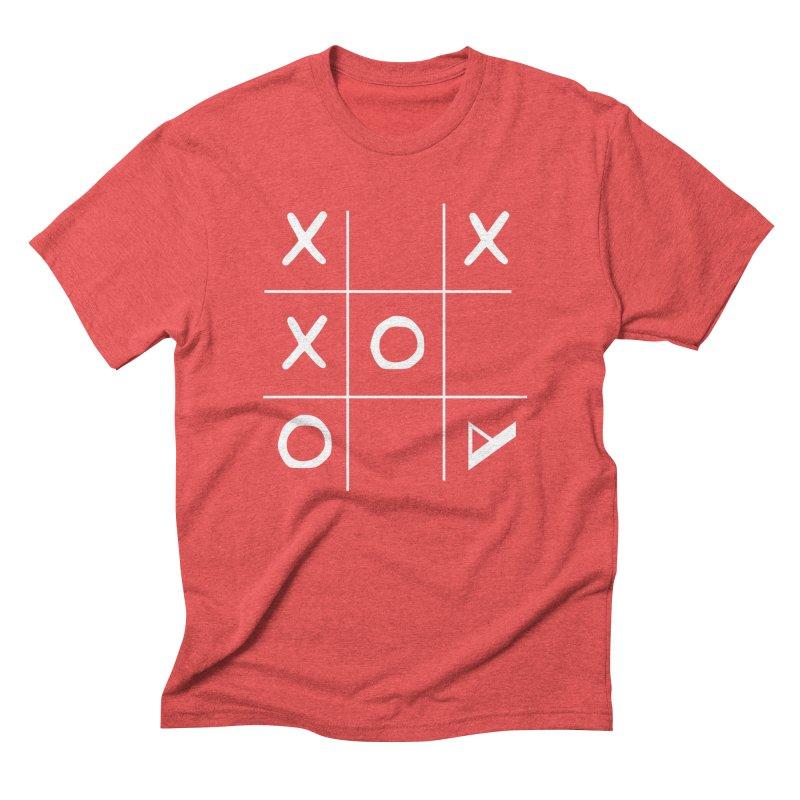 Tic Tac Toe Men's Triblend T-Shirt by Var x Apparel