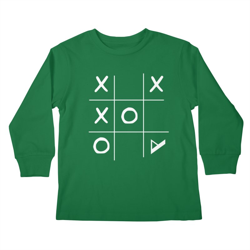 Tic Tac Toe Kids Longsleeve T-Shirt by Var x Apparel