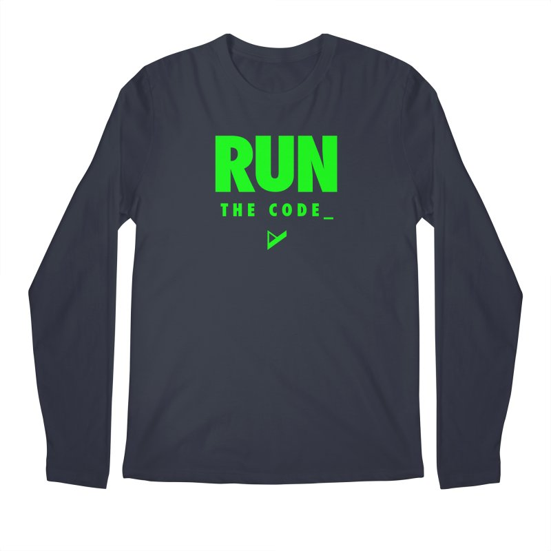 Run The Code Men's Regular Longsleeve T-Shirt by Var x Apparel