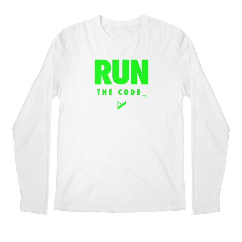 Run The Code Men's Regular Longsleeve T-Shirt by Var x Apparel