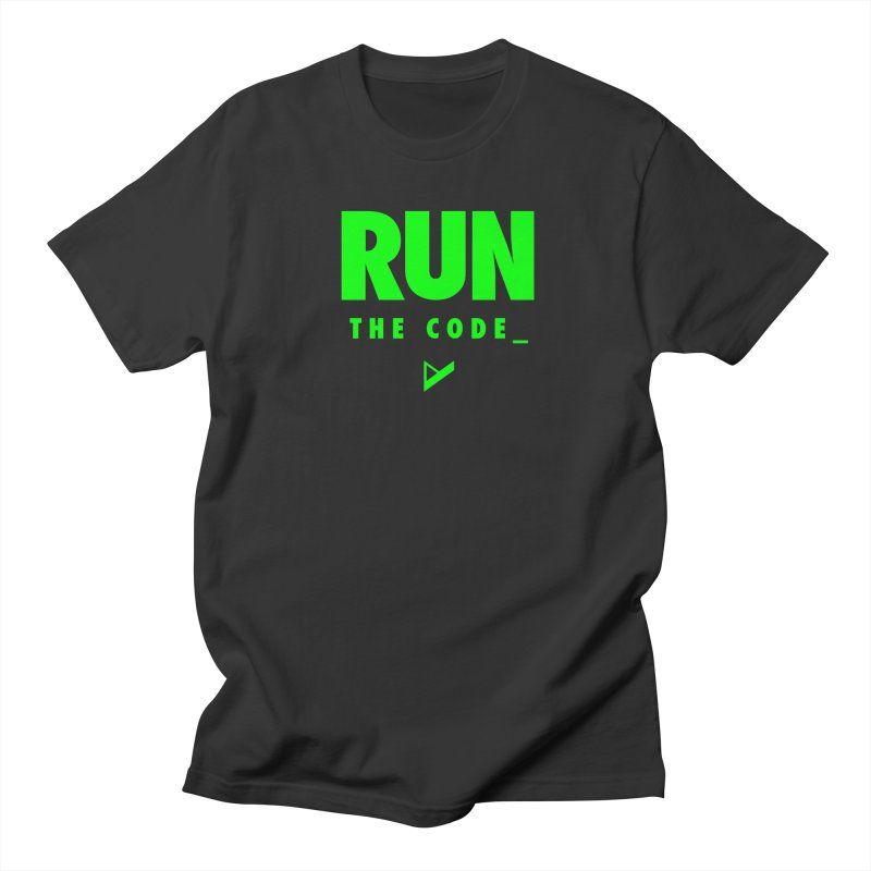 Run The Code Men's Regular T-Shirt by Var x Apparel