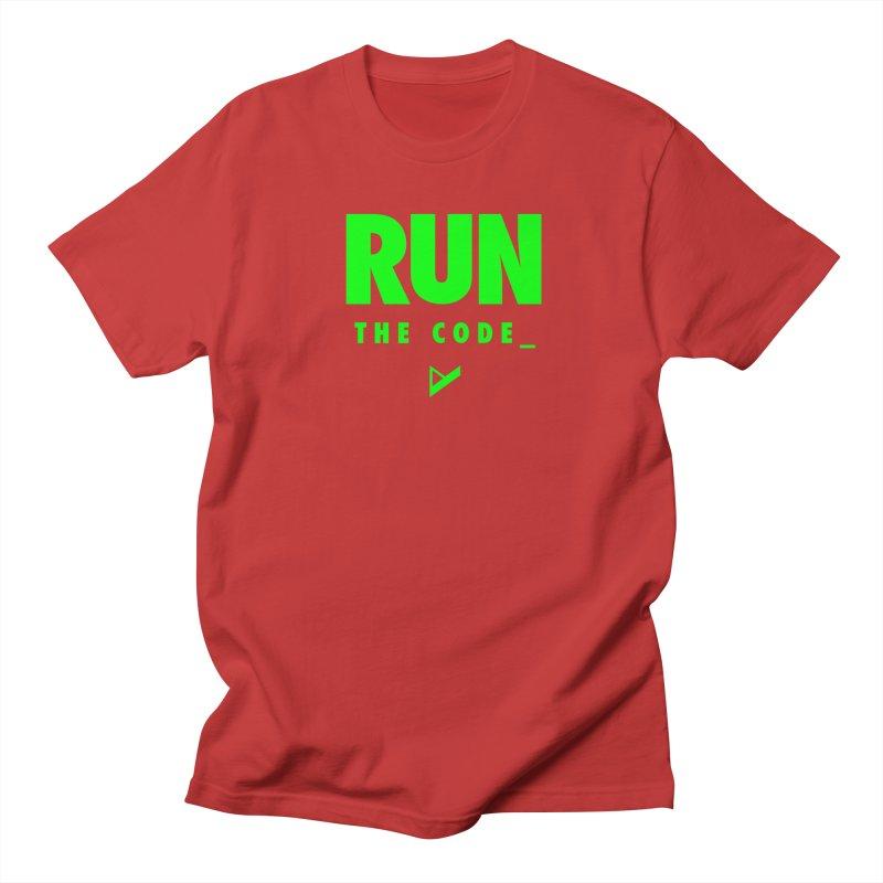 Run The Code Women's Regular Unisex T-Shirt by Var x Apparel