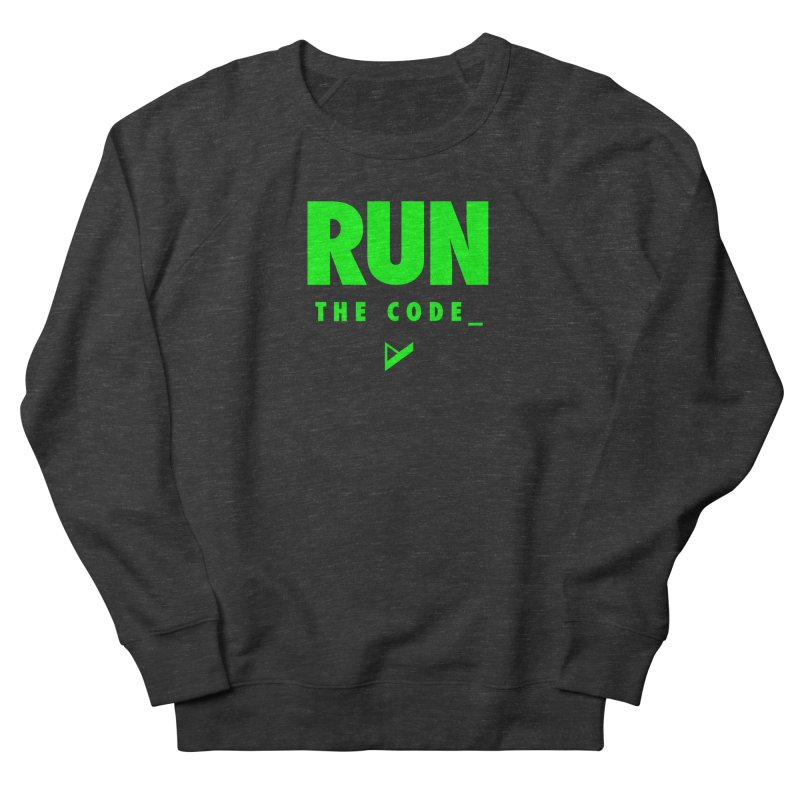 Run The Code Women's French Terry Sweatshirt by Var x Apparel