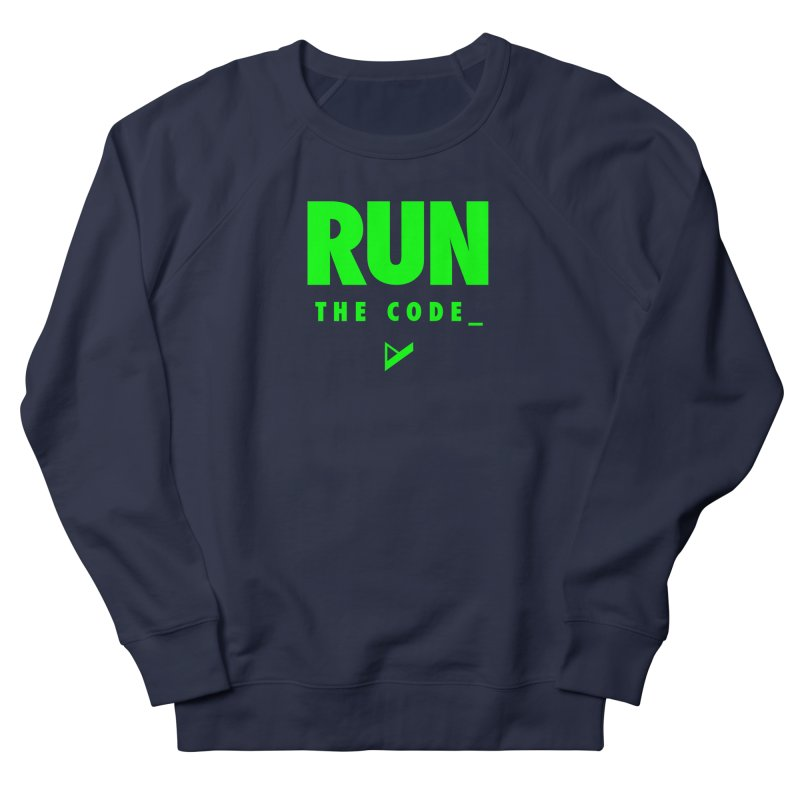 Run The Code Men's French Terry Sweatshirt by Var x Apparel