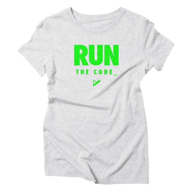 Run The Code Women's T-Shirt by Var x Apparel