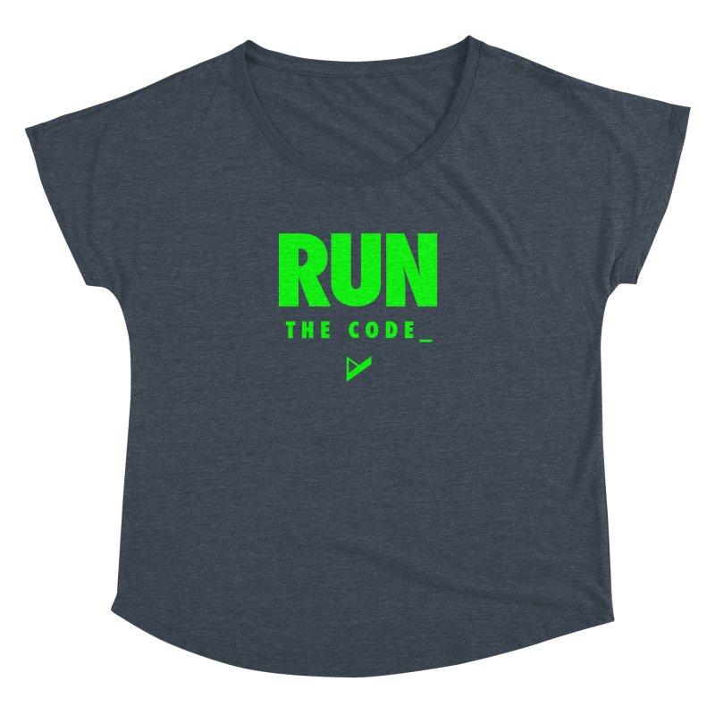 Run The Code Women's Dolman Scoop Neck by Var x Apparel