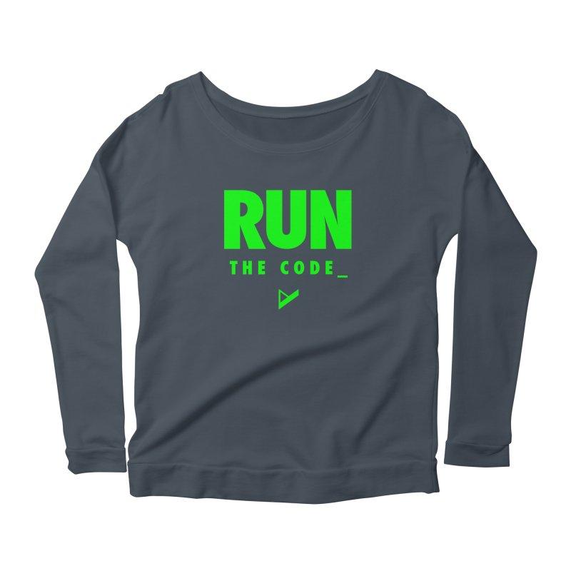 Run The Code Women's Scoop Neck Longsleeve T-Shirt by Var x Apparel