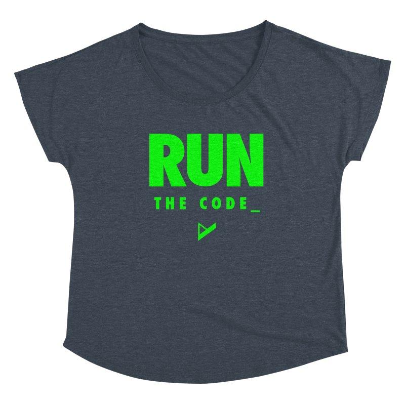 Run The Code Women's Scoop Neck by Var x Apparel