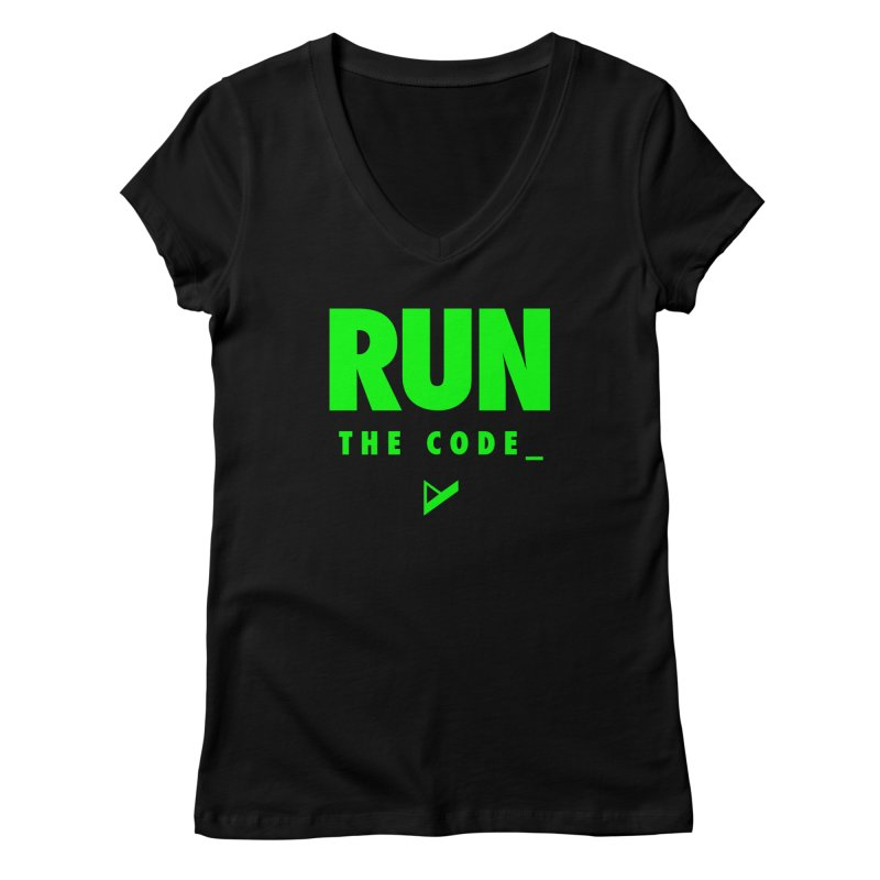 Run The Code Women's V-Neck by Var x Apparel