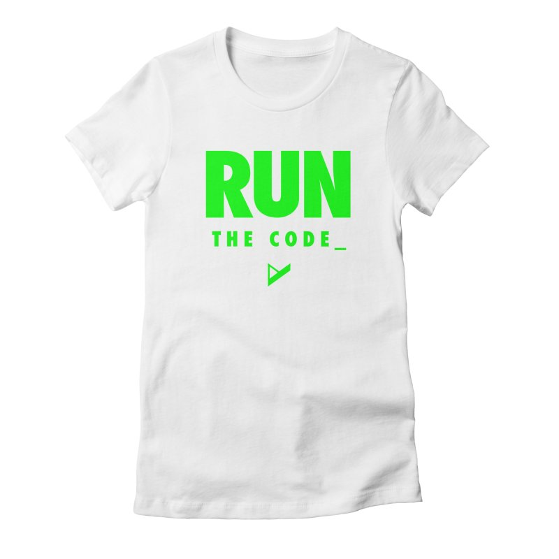 Run The Code Women's Fitted T-Shirt by Var x Apparel