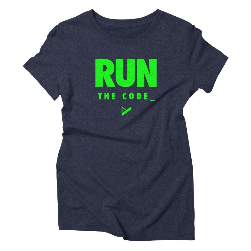 Run The Code Women's Triblend T-Shirt by Var x Apparel