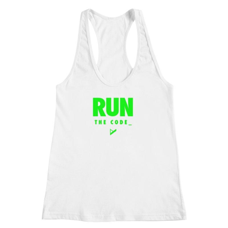 Run The Code Women's Racerback Tank by Var x Apparel