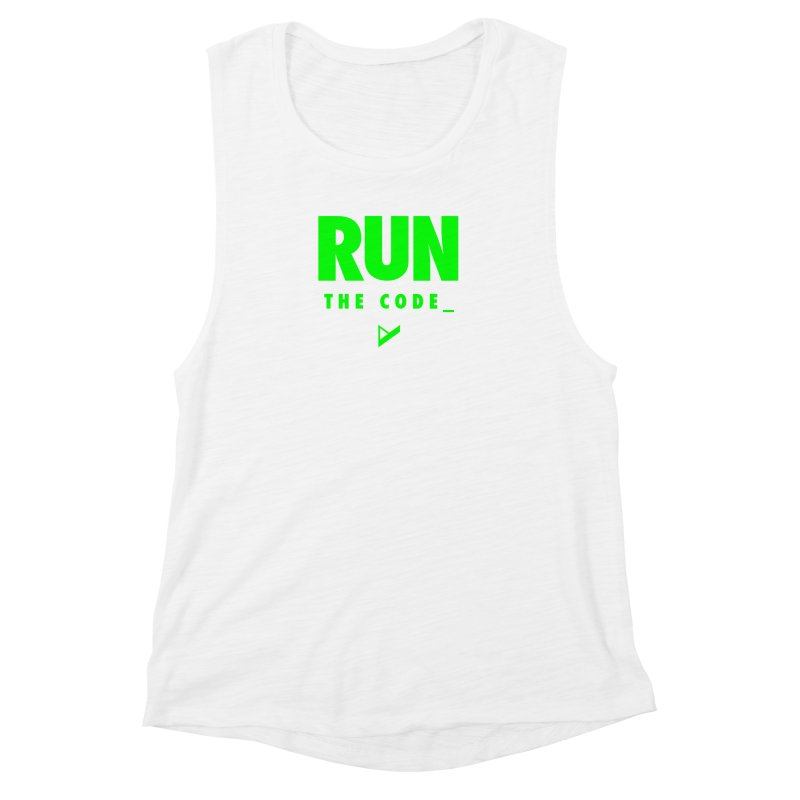 Run The Code Women's Muscle Tank by Var x Apparel