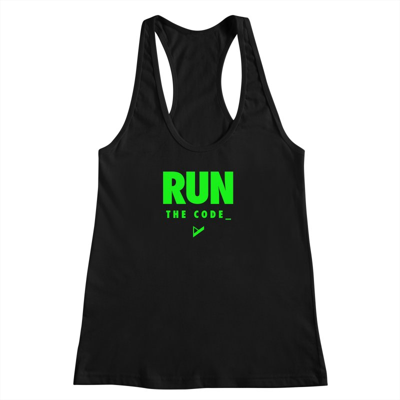 Run The Code Women's Racerback Tank by Var x Apparel