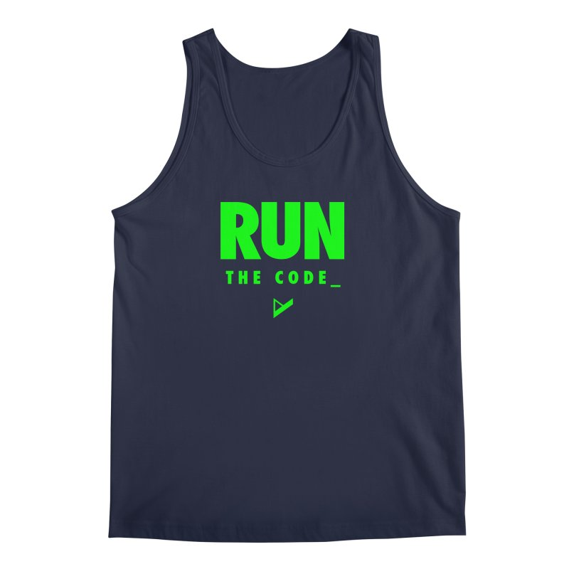 Run The Code Men's Regular Tank by Var x Apparel