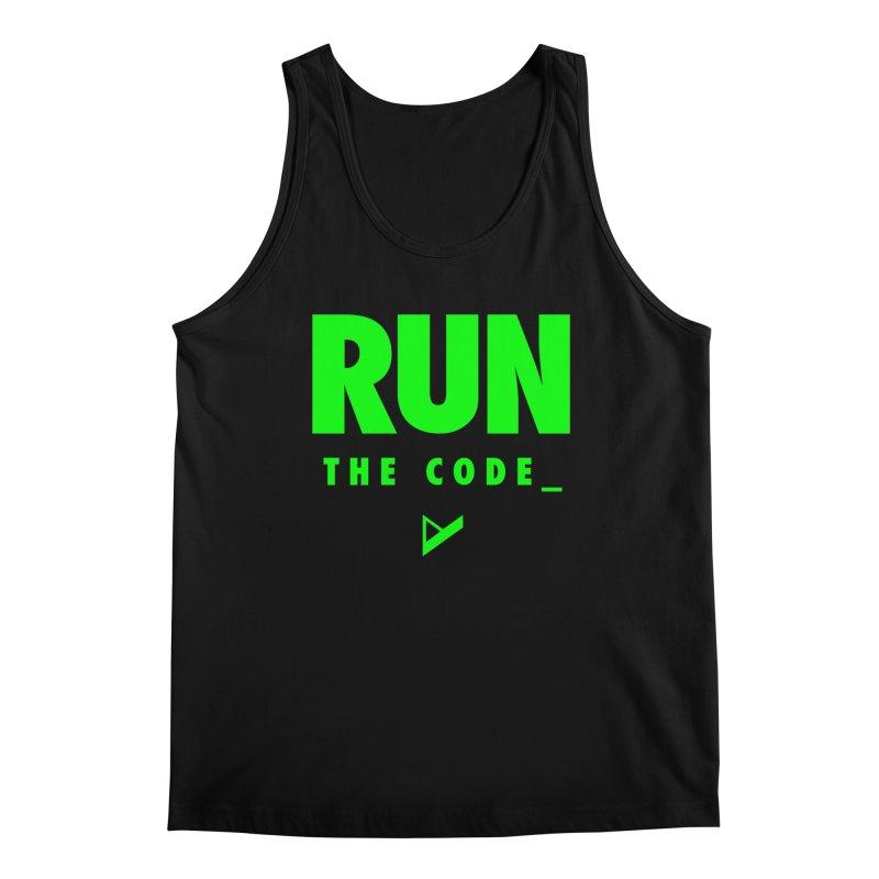Run The Code Men's Regular Tank by Var x Apparel