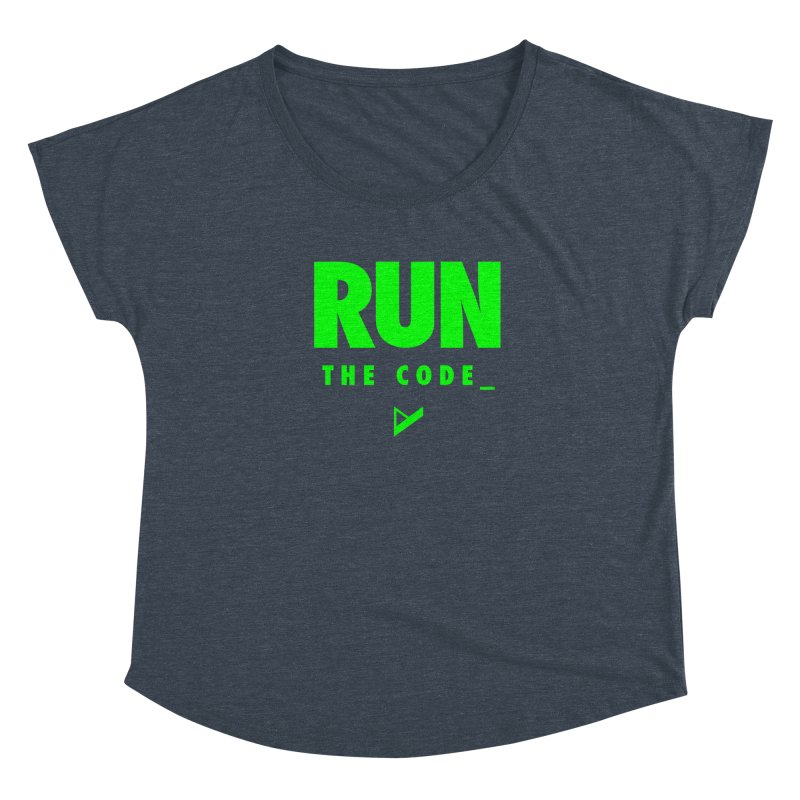 Run The Code Women's Scoop Neck by Var x Apparel
