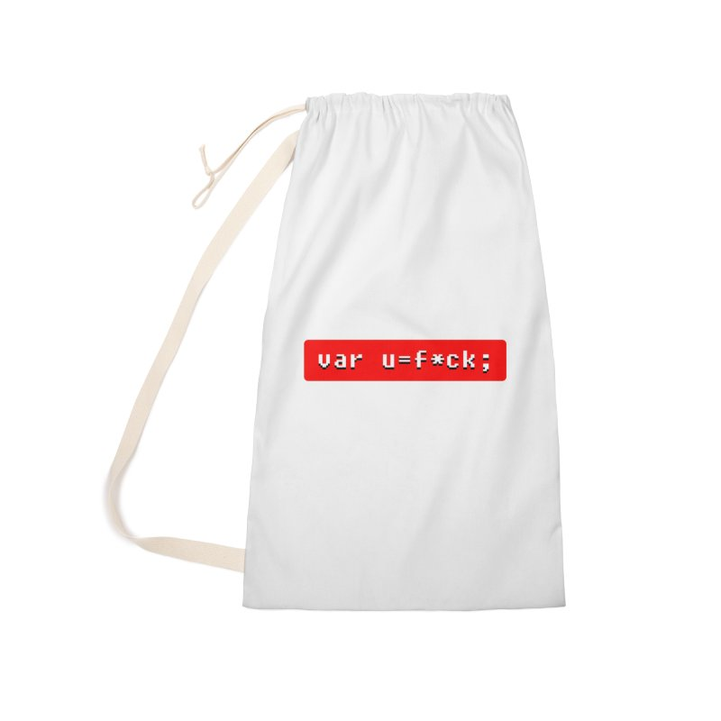 F*ck Accessories Laundry Bag Bag by Var x Apparel