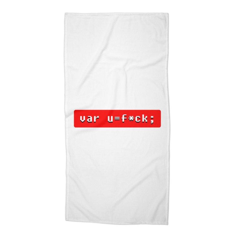 F*ck Accessories Beach Towel by Var x Apparel