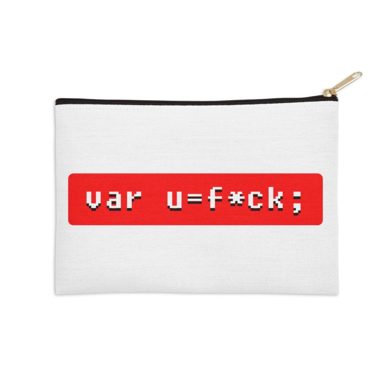 F*ck Accessories Zip Pouch by Var x Apparel