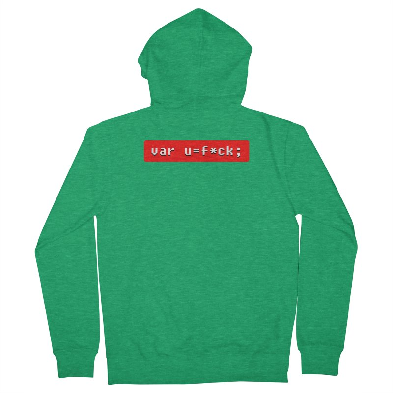 F*ck Women's French Terry Zip-Up Hoody by Var x Apparel