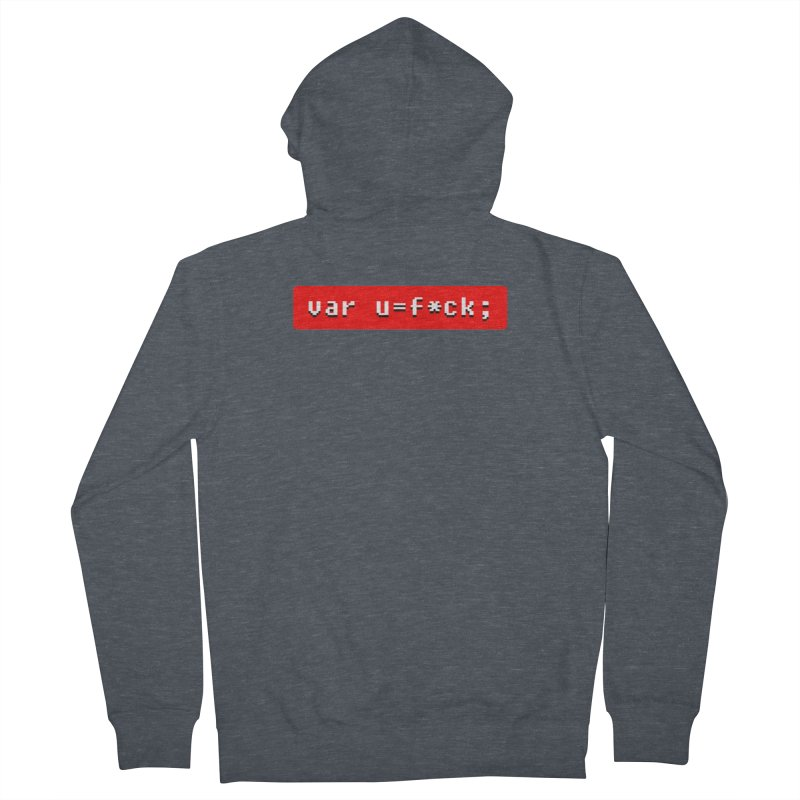 F*ck Men's French Terry Zip-Up Hoody by Var x Apparel