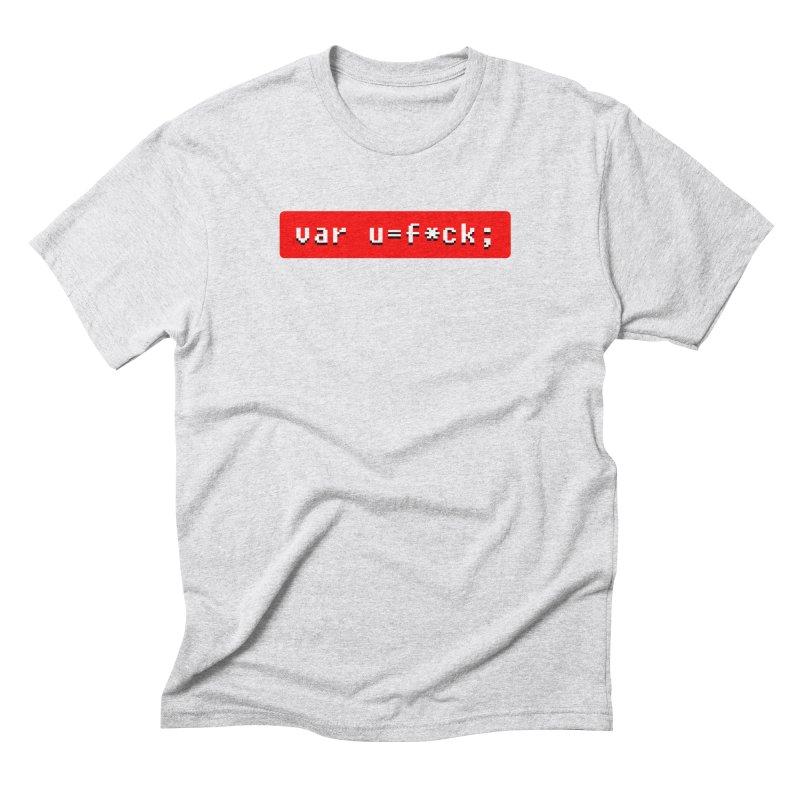 F*ck Men's Triblend T-Shirt by Var x Apparel