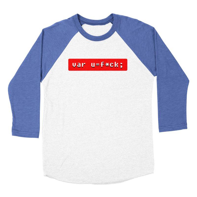 F*ck Women's Baseball Triblend Longsleeve T-Shirt by Var x Apparel