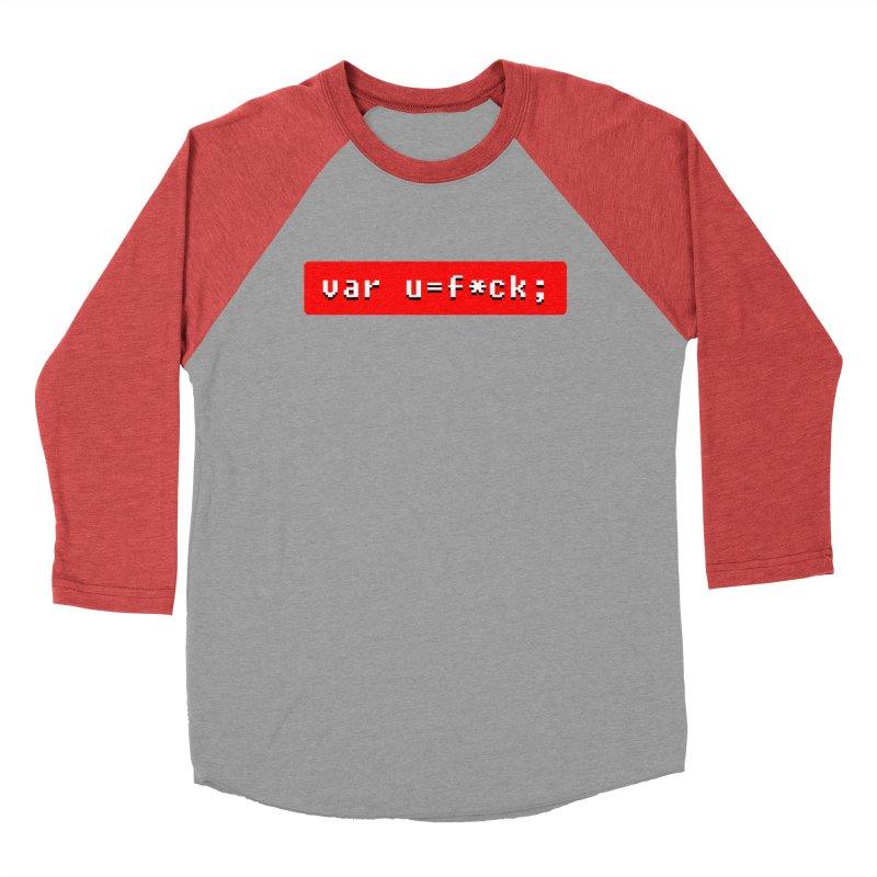 F*ck Men's Baseball Triblend Longsleeve T-Shirt by Var x Apparel