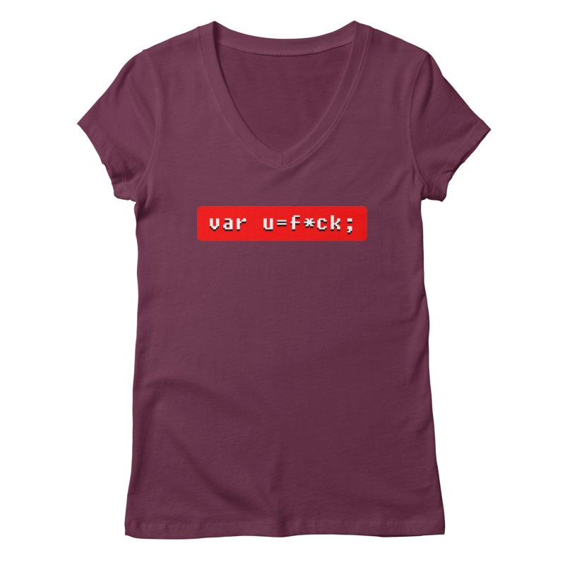 F*ck Women's Regular V-Neck by Var x Apparel