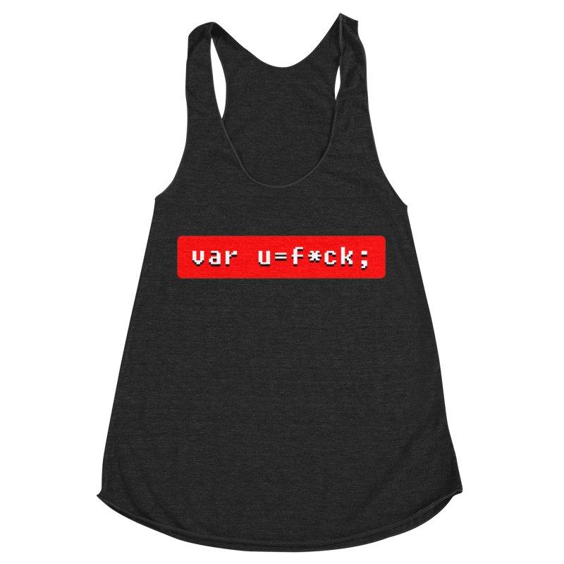 F*ck Women's Racerback Triblend Tank by Var x Apparel