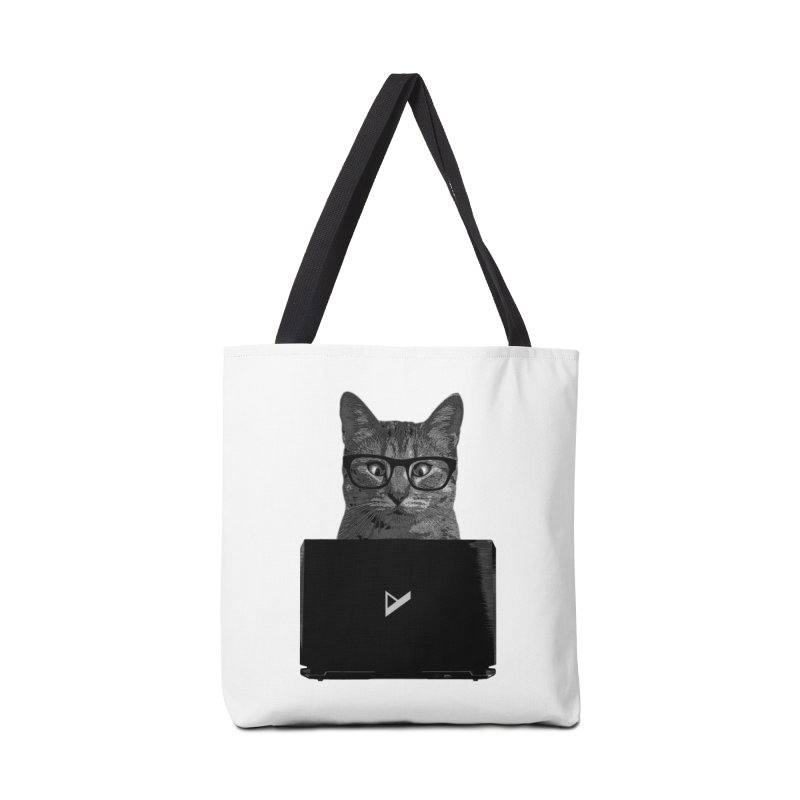 Cat Coding Accessories Tote Bag Bag by Var x Apparel