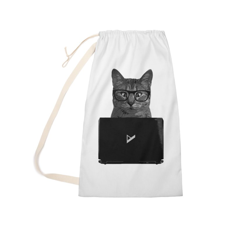 Cat Coding Accessories Laundry Bag Bag by Var x Apparel