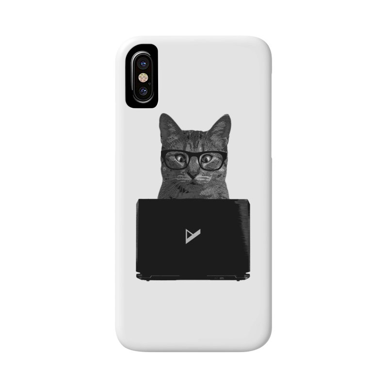 Cat Coding Accessories Phone Case by Var x Apparel