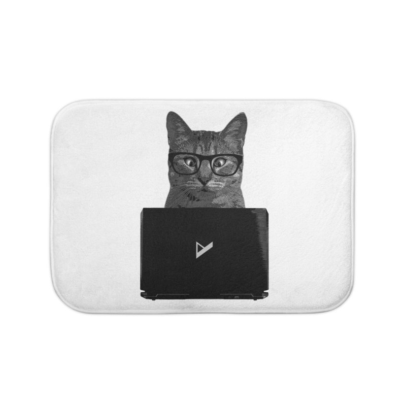 Cat Coding Home Bath Mat by Var x Apparel