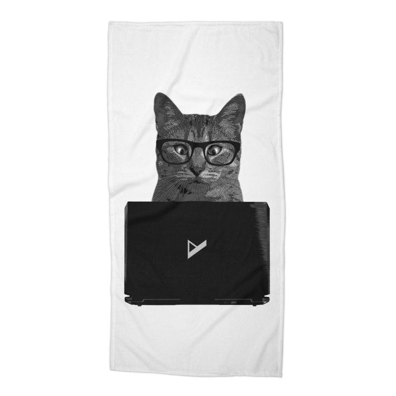 Cat Coding Accessories Beach Towel by Var x Apparel