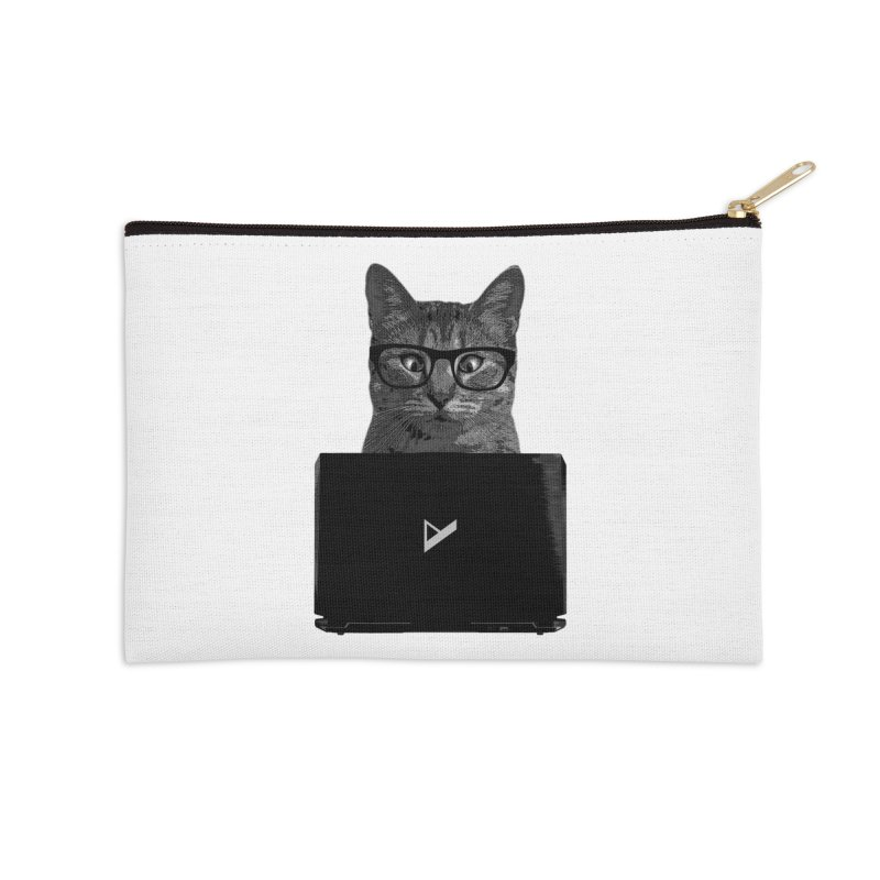 Cat Coding Accessories Zip Pouch by Var x Apparel