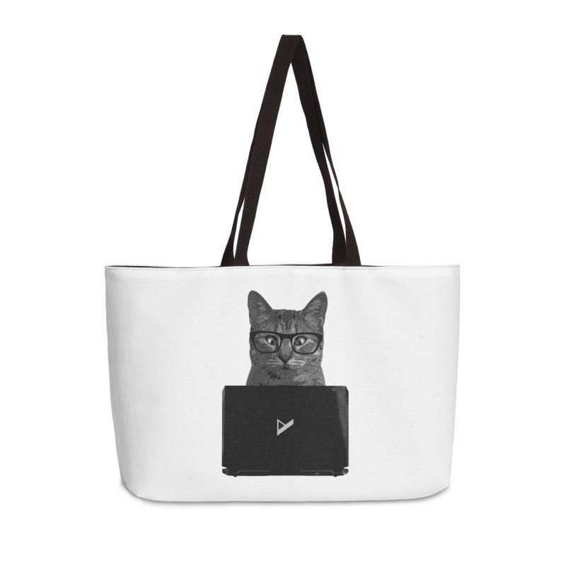 Cat Coding Accessories Weekender Bag Bag by Var x Apparel