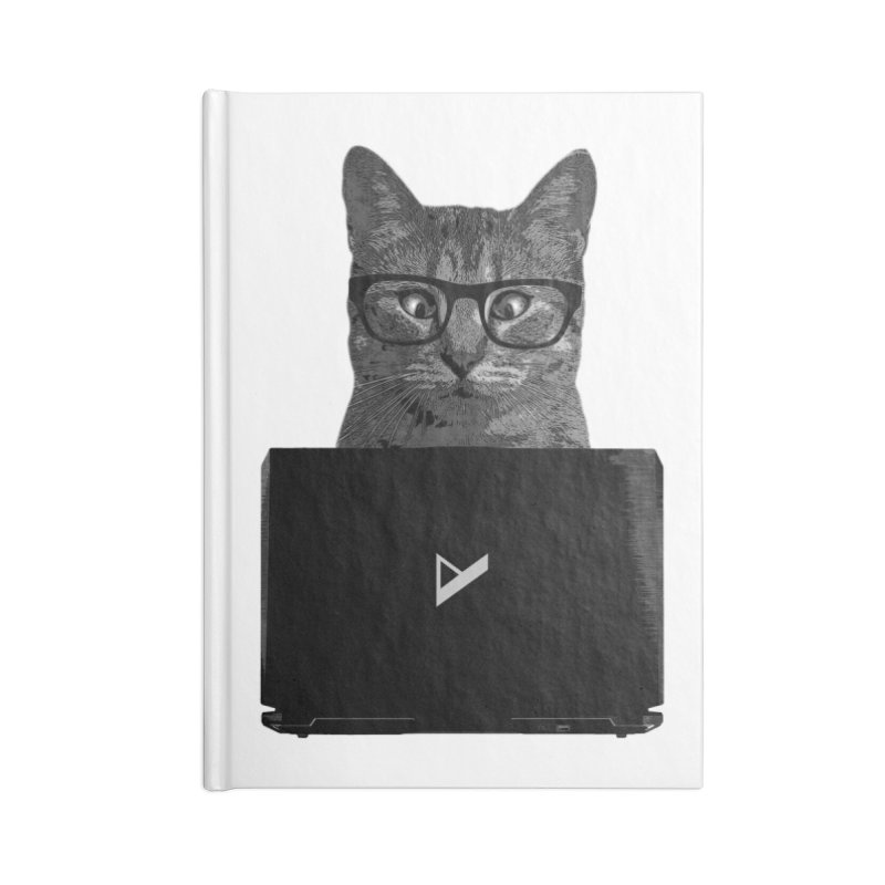 Cat Coding Accessories Blank Journal Notebook by Var x Apparel