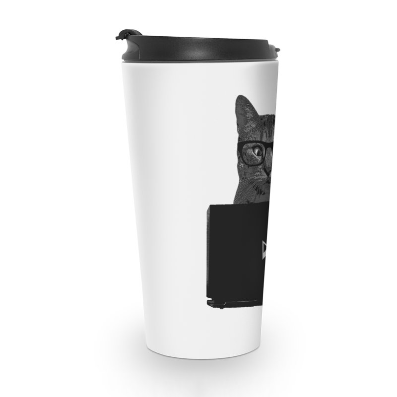 Cat Coding Accessories Travel Mug by Var x Apparel