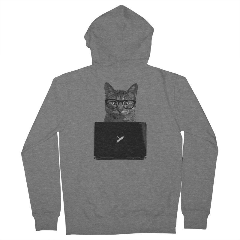Cat Coding Men's Zip-Up Hoody by Var x Apparel