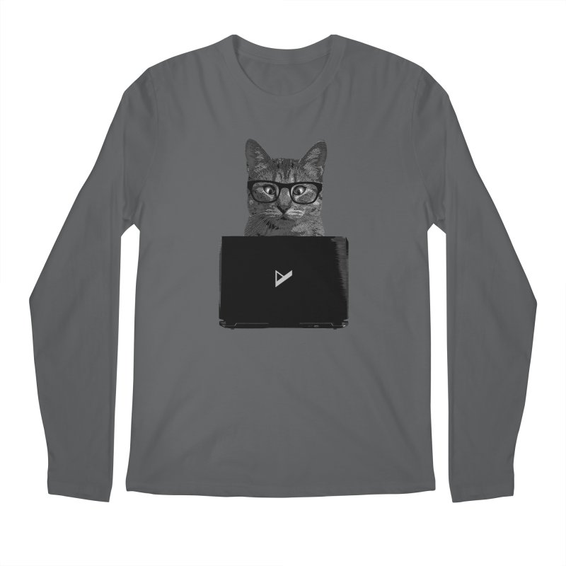 Cat Coding Men's Regular Longsleeve T-Shirt by Var x Apparel