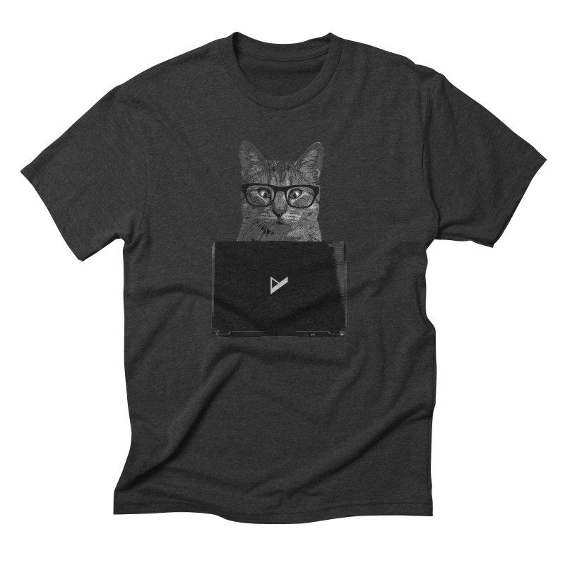 Cat Coding Men's Triblend T-Shirt by Var x Apparel