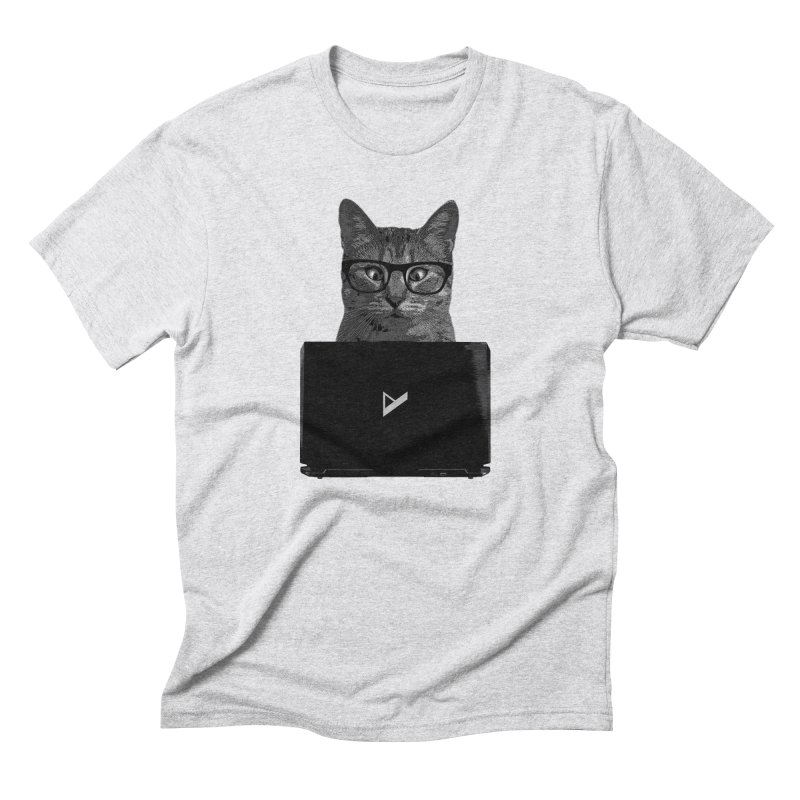 Cat Coding Men's Triblend T-Shirt by Var x Apparel