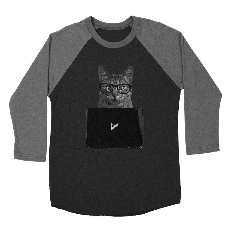 Cat Coding Women's Baseball Triblend Longsleeve T-Shirt by Var x Apparel