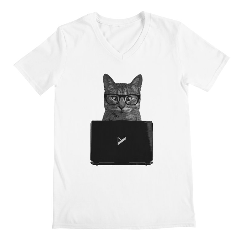 Cat Coding Men's Regular V-Neck by Var x Apparel