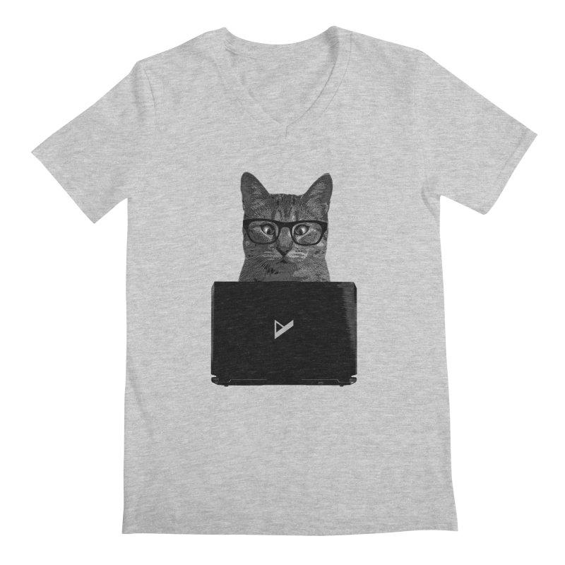 Cat Coding Men's Regular V-Neck by Var x Apparel