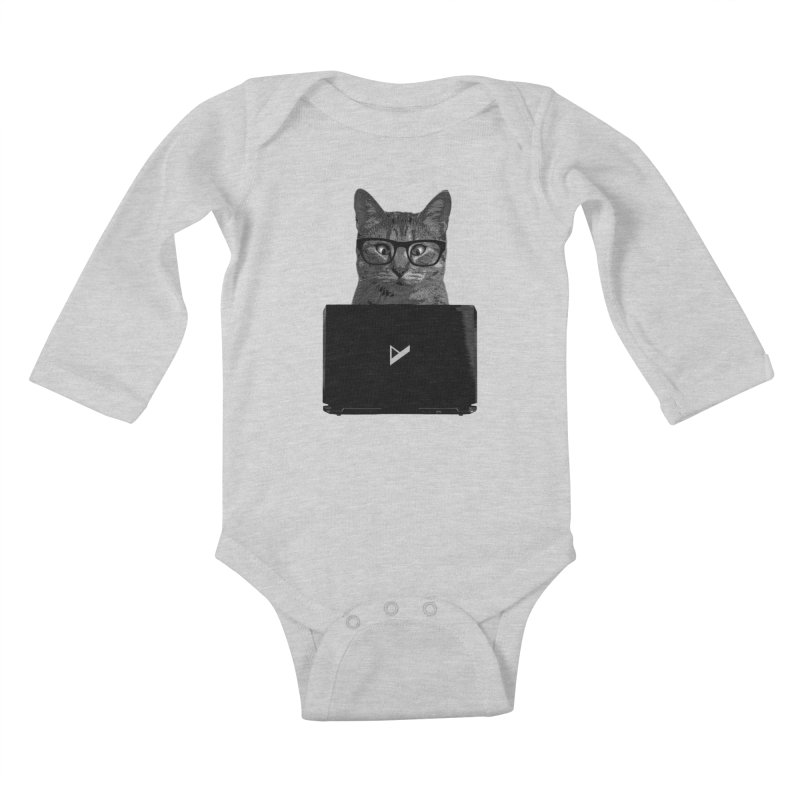 Cat Coding Kids Baby Longsleeve Bodysuit by Var x Apparel