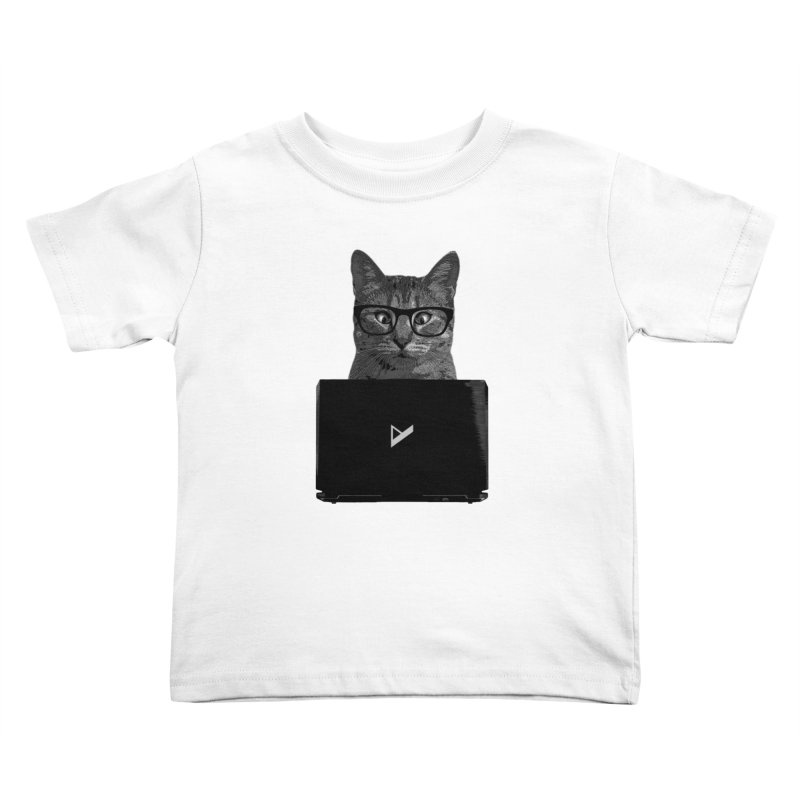 Cat Coding Kids Toddler T-Shirt by Var x Apparel